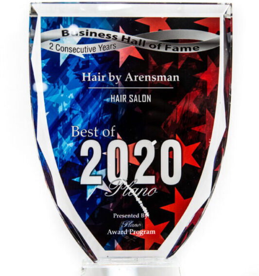 we are honored to be awarded best hair salon plano 2020