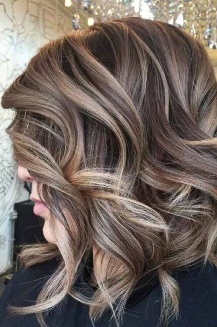 ash balayage hair color