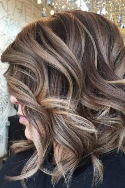 ash balayage hair color