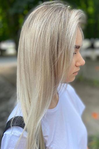 deep blonde balayage