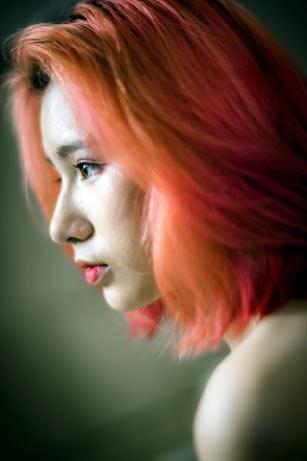 orange haircoloring