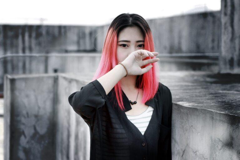 magenta hairstyle