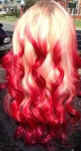 bold red blonde balayage
