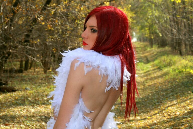 bold red long hairstyle