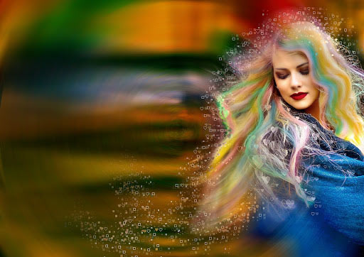 color trends 2021 rainbow hair color