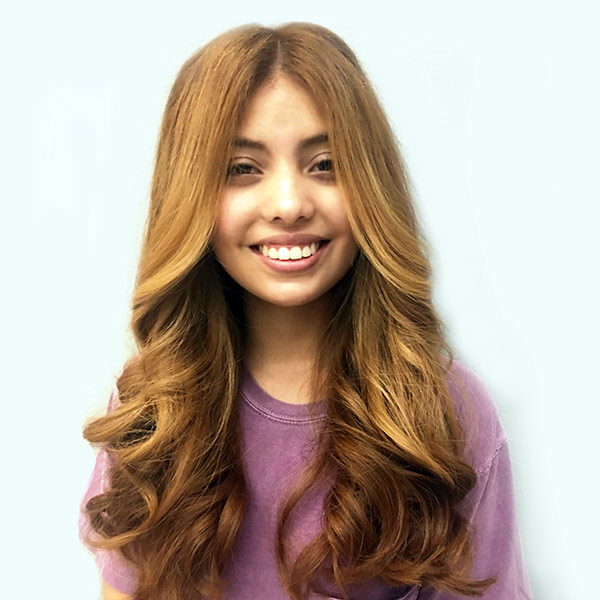 red hair coloring on girl salon plano texas