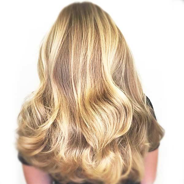 blonde highlights woman hair salon plano frisco allen richardson tx