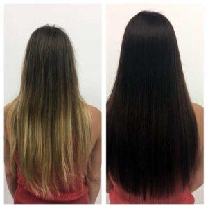 womans hair coloring correction salon plano texas