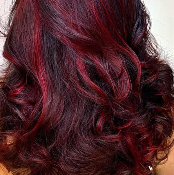 red accent foils highlights