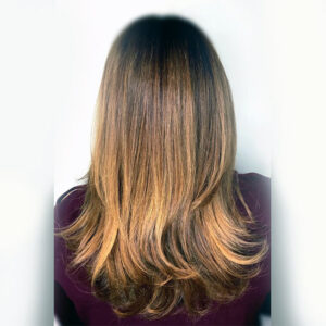 womans hair coloring best foilyage in plano tx