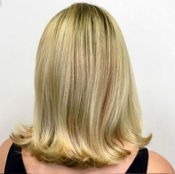 warm blonde haircoloring in plano texas