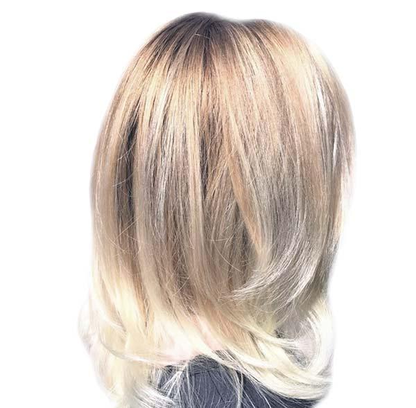 luxurious blond highlights best hair salon near me plano texas