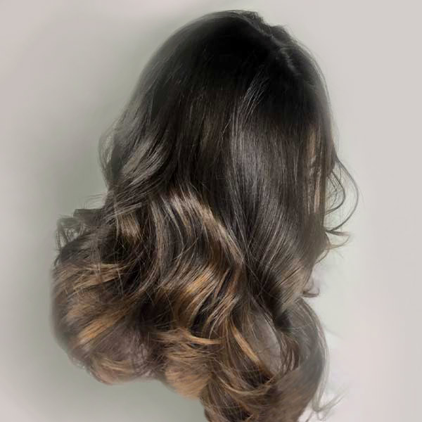 womans ombre hair coloring plano texas salon