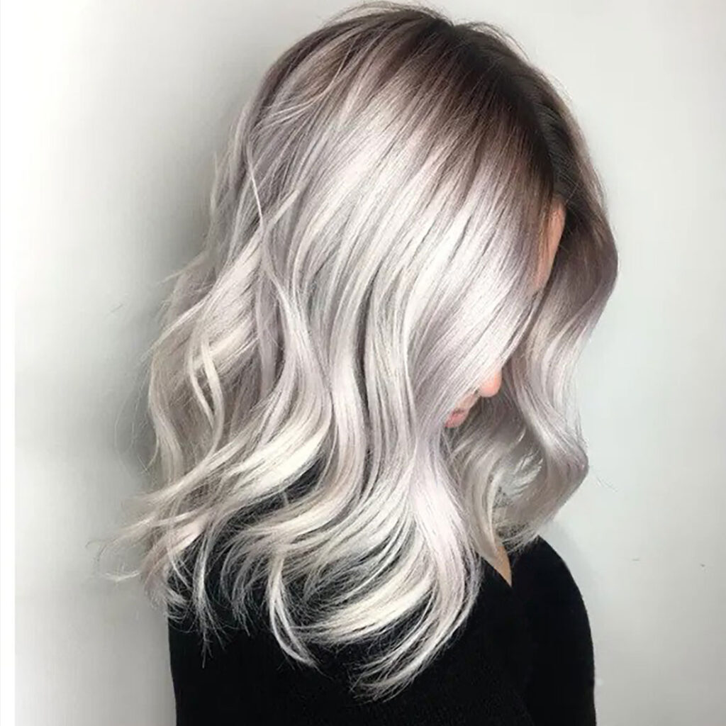 bold blonde with shadow root