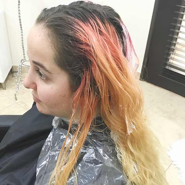 color correction with multiple chemical processes