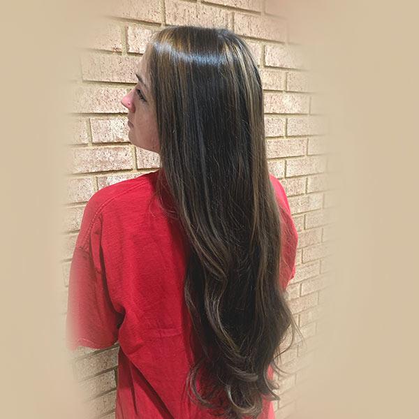 extreme repair gloss hair treatment girls long hair